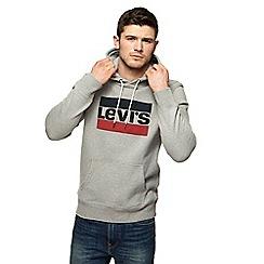 Levi's - Grey logo print hoodie