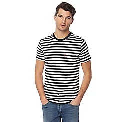 Levi's - Black and white striped pocket t-shirt