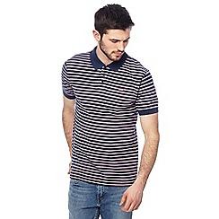 Levi's - Navy striped polo shirt