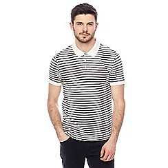Levi's - White striped polo shirt