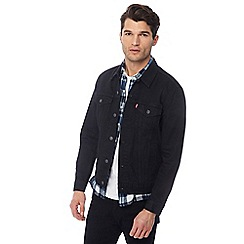 Levi\u0027s - Black denim trucker jacket