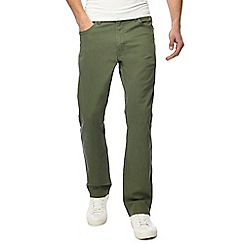Wrangler - Big and tall khaki 'texas' twill trousers