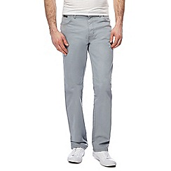 Wrangler - Big and tall light grey 'texas' twill jeans