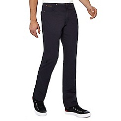 Wrangler - Navy 'Arizona' straight leg chino trousers