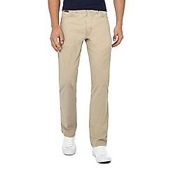 Wrangler - Big and tall beige 'Arizona' straight leg chino trousers