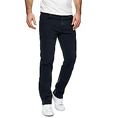Wrangler - Black 'Texas' straight fit jeans