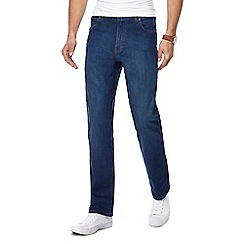 Wrangler - Big and tall blue 'texas' straight fit jeans