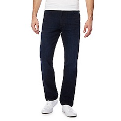 Wrangler - Dark blue 'Arizona' straight leg jeans