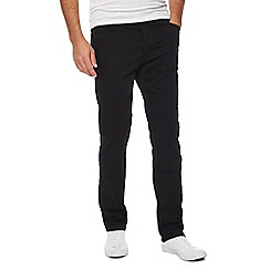 Wrangler - Big and tall black 'greensboro' straight leg jeans