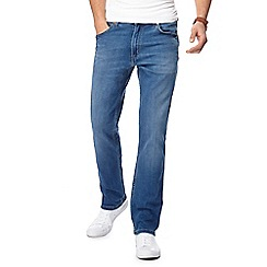 Wrangler - Blue 'Greensboro' straight leg jeans