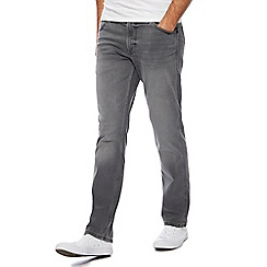 Wrangler - Big and tall grey 'greensboro' straight leg jeans