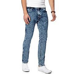 Wrangler - Blue 'Larston Glace' slim tapered jeans