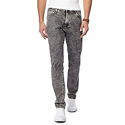 Wrangler - Grey 'Larston Snow Flake' slim tapered jeans