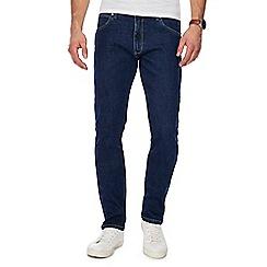 Wrangler - Blue dark wash 'Larston' slim fit jeans
