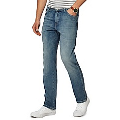 Wrangler - Big and tall blue mid wash 'Texas' regular jeans
