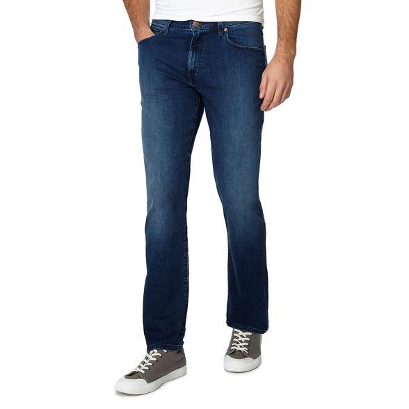 mid 'Arizona' straight Blue wash Wrangler jeans leg qFxEaB4wn