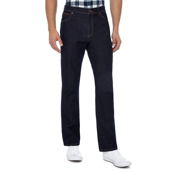 Wrangler Big jeans blue wash leg 'Texas' and straight tall dark r4nZvrz