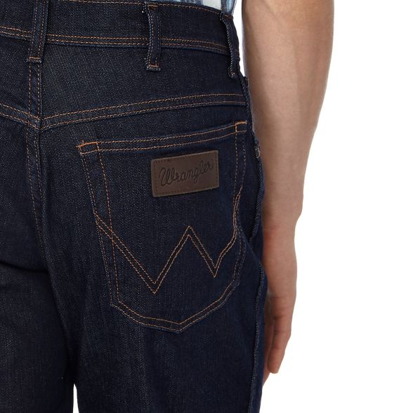 Wrangler Big jeans blue wash leg 'Texas' and straight tall dark r4nZvrz