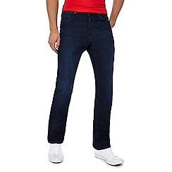 Wrangler - Big and tall dark blue 'Arizona' straight leg jeans