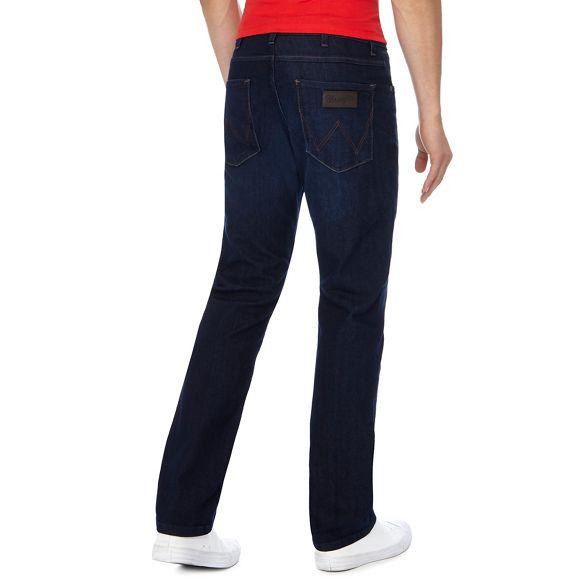 Big 'Arizona' and Wrangler tall leg jeans dark straight blue 4RRpWOn