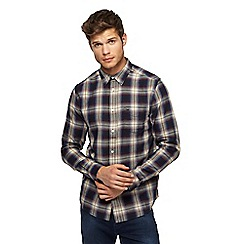 Wrangler - Purple tartan checked shirt