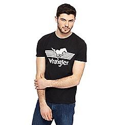 Wrangler - Black logo print t-shirt