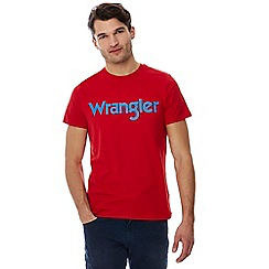 Wrangler - Red logo print t-shirt