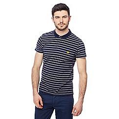 Wrangler - Navy striped polo shirt