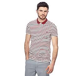 Wrangler - Ivory striped polo shirt