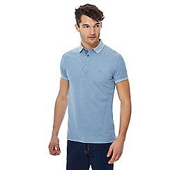 Wrangler - Blue embroidered logo polo shirt