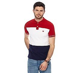 Wrangler - Multi-coloured colour block polo shirt