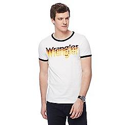 Wrangler - White logo print t-shirt