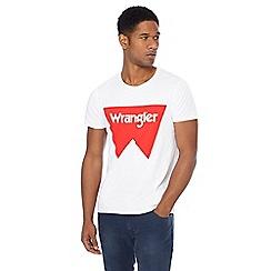 Wrangler - White 'Festival' logo print t-shirt