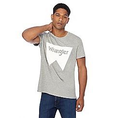 Wrangler - Grey 'Festival' logo print t-shirt