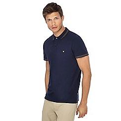 Wrangler - Navy tipped polo shirt
