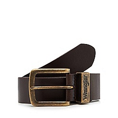 Wrangler - Dark brown metal loop belt