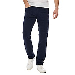 Lee - Big and tall navy 'darren' slim leg chinos