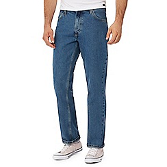 Lee - Big and tall blue 'Brooklyn' mid wash straight fit jeans