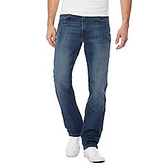 Lee - Big and tall blue 'brooklyn' straight fit jeans