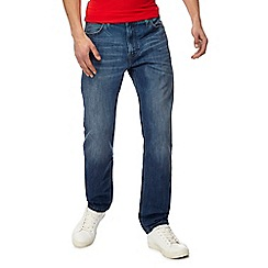 Lee - Blue 'Morton' relaxed fit mid wash straight leg jeans