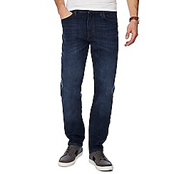 Lee - Blue mid wash 'Morten' straight fit jeans