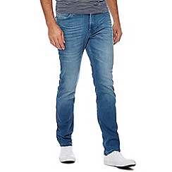 Lee - Blue 'Rider' mid wash slim fit jeans
