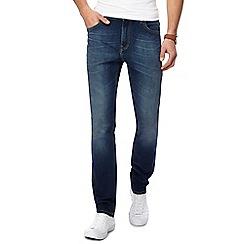 Lee - Blue 'Rider' vintage wash slim fit jeans
