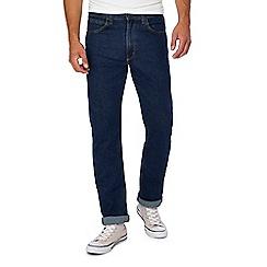 Lee - Blue mid wash 'Brooklyn' straight leg jeans