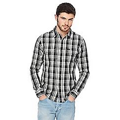 Lee - Black and white checked western shirt