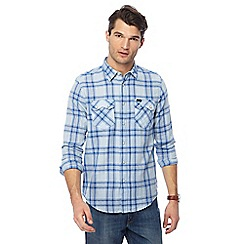 Lee - Light blue 'Rider' checked shirt