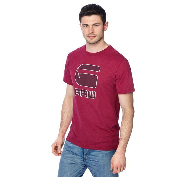 t logo G shirt pink Star print Dark AXX01P