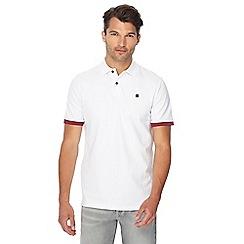 G-Star - White logo detail polo shirt