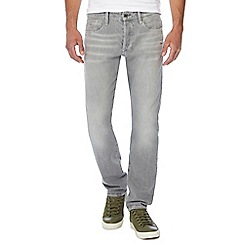 G-Star - Grey light wash '3301' tapered jeans
