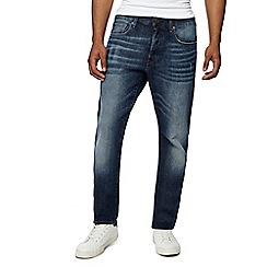 G-Star - Blue mid wash '3301' slim fit jeans